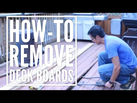 How-To Easily Remove Rotting Deck Boards That are Nailed to your Deck