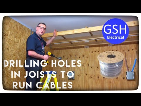 Drilling Holes in Joists to run Cables (wires) Through Installation Considerations inc Calculations