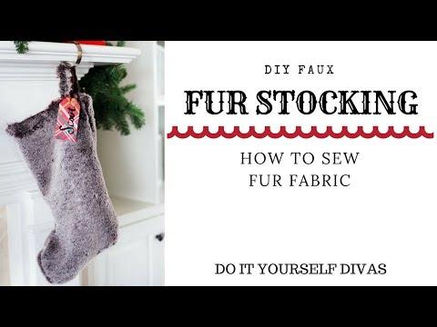 DIY Faux Fur Stocking - How To Sew Fur Fabric