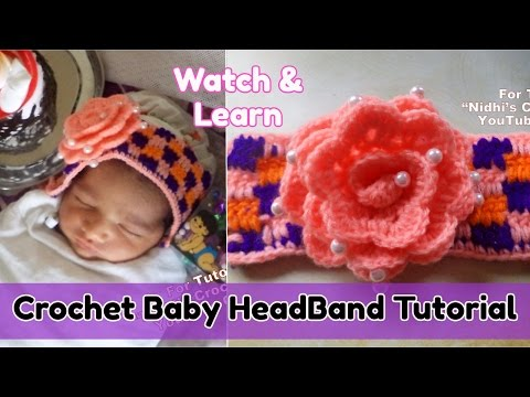 How to Crochet Flower Baby HeadBand with Boucan Stitch Tutorial for beginners