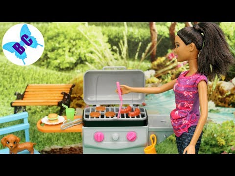 Barbie Furniture 2017 Toy Review | NEW BBQ & Puppy Movie Night & Kitten Playsets | Buterflycandy