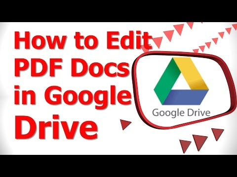 How to Edit PDF Docs in Google Drive