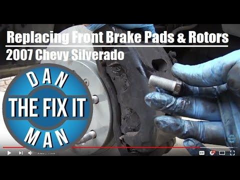 2007 Chevy Silverado 1500 - Replacing Front Brake Pads & Rotors