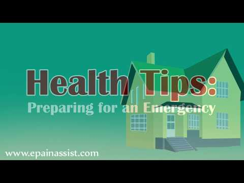 Health Tips to Prepare for an Emergency