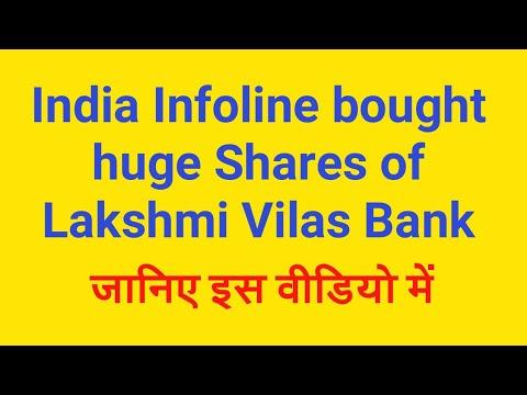 India Infoline bought huge Shares of Lakshmi Vilas Bank Ltd