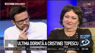 Monica Pop: Mama Cristinei Țopescu locuia în București. A aflat tragedia din presă!