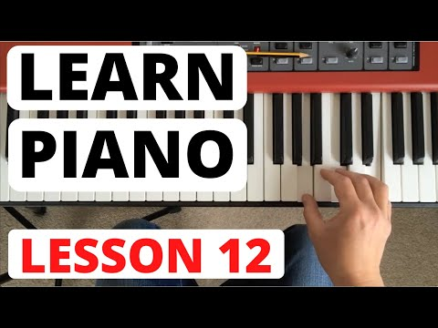 Piano for Beginners, Lesson 12 || Rhythm reading and new scales