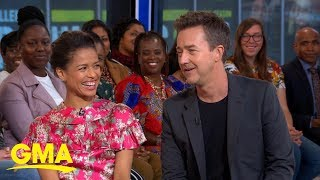 Ed Norton and Gugu Mbatha-Raw talk 'Motherless Brooklyn' l GMA