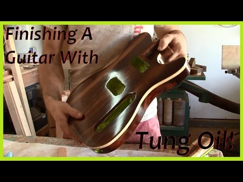 Telecaster Build Part XXIII: Finishing a Guitar with Tung Oil
