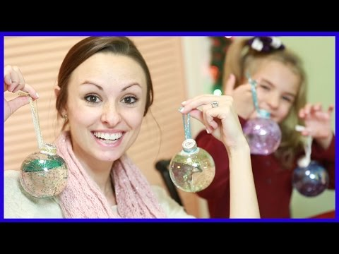 DIY SNOW GLOBE ORNAMENT!