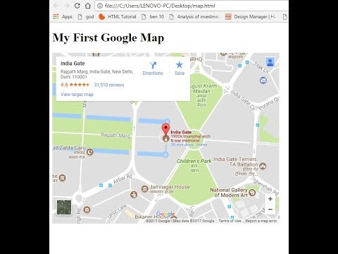 How to add google map in your html file