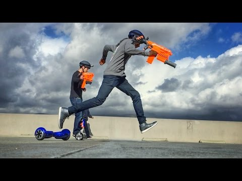 HOVERBOARD NERF RACE