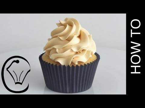 How To Make Thick Stable Caramel Swiss Meringue Buttercream by Cupcake Savvy's Kitchen