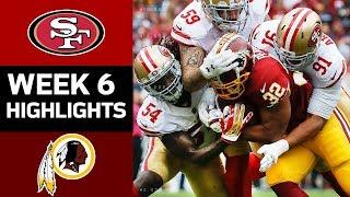 49ers Vs Redskins Nfl Week 6 Game Highlights