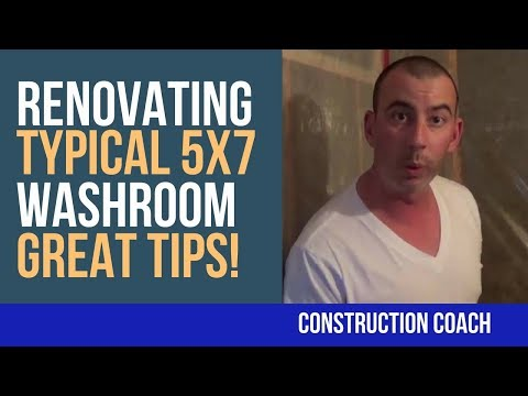 Renovating Typical 5x7 Washroom - Great Tips!