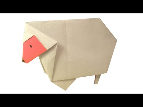 Simple Origami Sheep