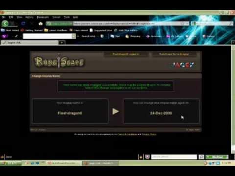 Runescape Username Change!