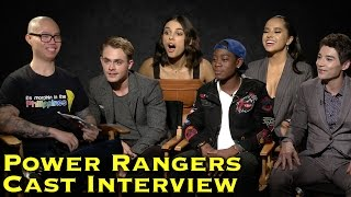 """INTERVIEW: Power Rangers Movie Cast talks new suits and """"haters"""""""