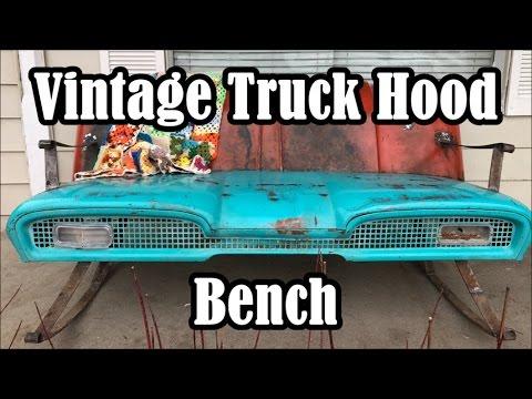 DIY Vintage Truck Hood Bench...