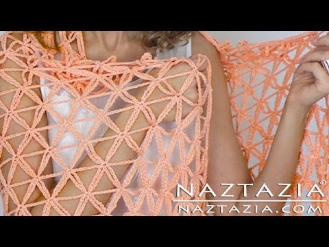 Learn How to Crochet Flower of Life Chain Shawl - Star Stitch DIY Tutorial