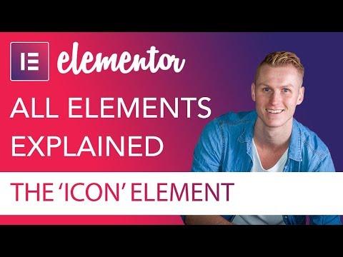 Icon Element Tutorial | Elementor
