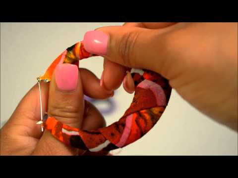 How to Make Fabric Covered Hoop Earrings