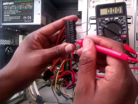 how to test a PSU power supply unit voltage using multimeter