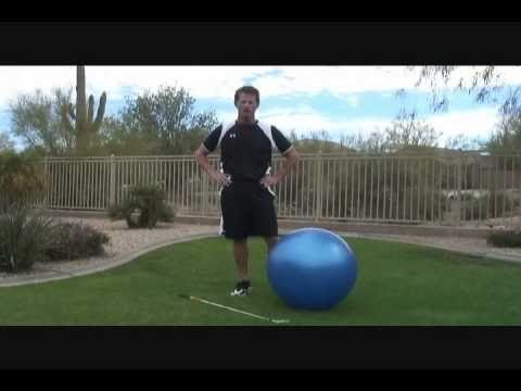 How To Improve Golf Swing Width With Exercise Ball