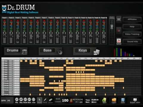 Dr Drum Beat Making Software - Make Beats Easy - Dubstep, Hip Hop, Minimal, Techno, House