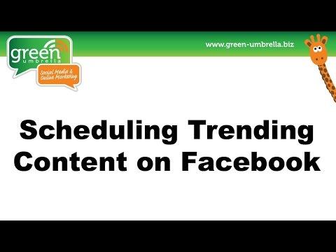 How To Schedule Trending Content on Facebook