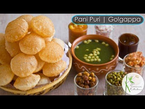 Pani Puri | Golgapa Recipe with Teekha Pani, Sweet Chutney and Stuffing ~ The Terrace Kitchen