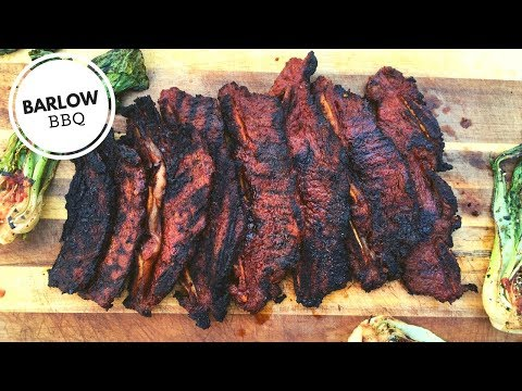 Korean BBQ Kalbi Beef Short Ribs and Grilled Bok Choy on the Weber Kettle Grill | Barlow BBQ