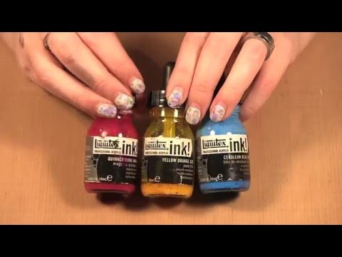 Liquitex Inks over Acrylic Paint