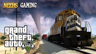 GTA V Mods Train vs Tornado