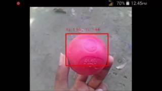 OpenCV Android object tracking demo test with Arduino UNO