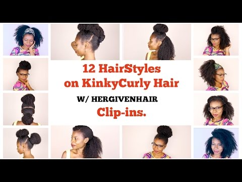 12 QUICK AND EASY HAIRSTYLES BACK TO SCHOOL (USING HERGIVENHAIR CLIP-INS)