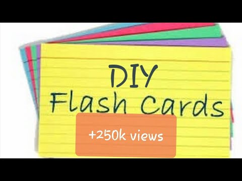How to make FLASH CARDS