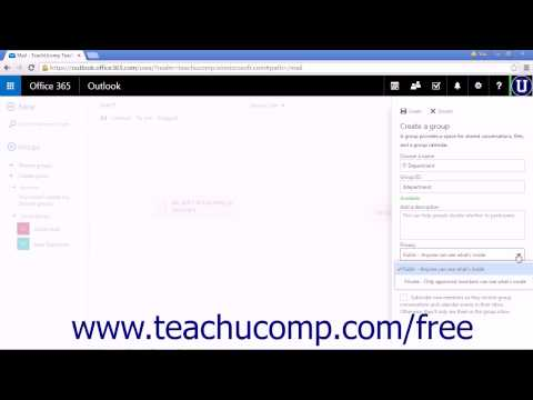 Outlook Web App Tutorial Creating a New Group 2015 Microsoft Training