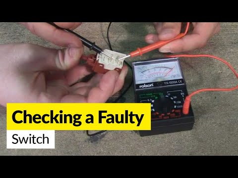 How to check a faulty switch using a multimeter