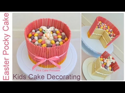 How To Frost A Birthday Cake Cake Decoration Ideas Easy Pink