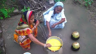Bangali Village Style TAL KHEER & ROOTI for Dinner Routine Prepared by my Mother and Grandmother