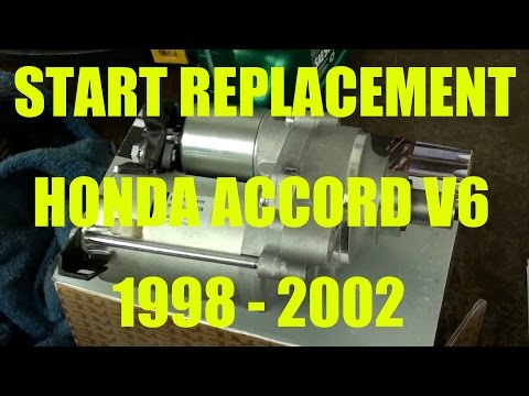 Honda Accord V6 3.0L Starter motor replacement.  Years 1998 - 2002.