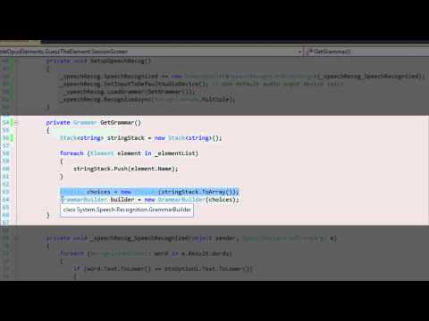 Applied Speech recognition in C#