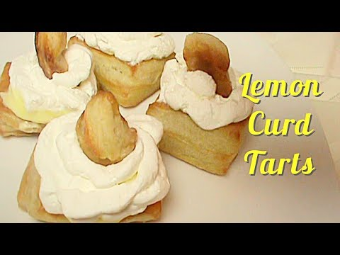 How to Make Lemon Tarts with Lemon Curd and Puff Pastry
