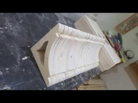 Wooden shelf bracket  طريقه عمل حامله الرف