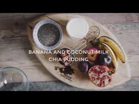 CREAMY COCONUT MILK CHIA PUDDING W. BANANA (VEGAN)