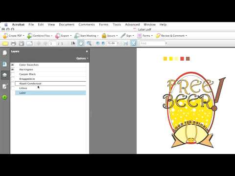Advanced Adobe Acrobat 8: Working With Layers Working with Layer Properties