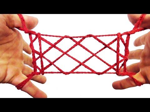 String Tricks! How To Make A Rug String Figure (Apache Door) Tutorial