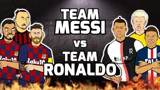 🔥Team Messi vs Team Ronaldo🔥 Football Challenges! (Feat Frontmen)