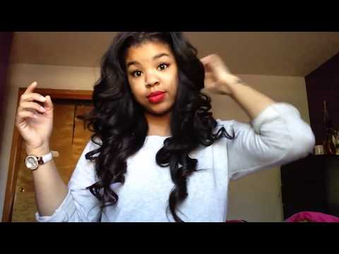 How I Curl My Weave | Big Bouncy Curls
